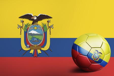 ecuador: Ecuador flag with soccer ball