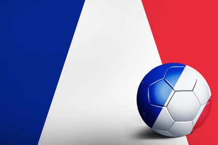 France flag with soccer ball