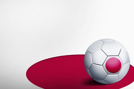 Vlag van Japan met voetbal