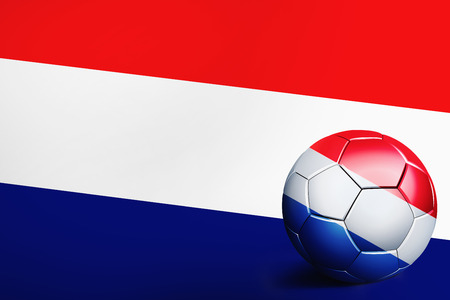 the netherlands: Netherlands flag with soccer ball
