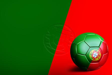 drapeau portugal: Portugal indicateurs avec ballon de soccer