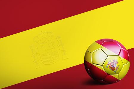 spain flag: Spain flag with soccer ball