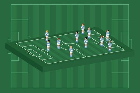 Argentina team formation Vector