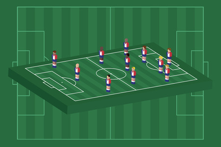France team formation Vector