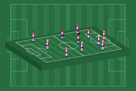 France team formation Illusztráció