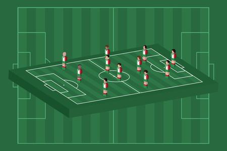 Italy team formation Illusztráció