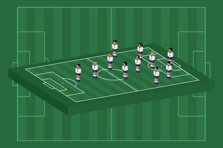 South Korea team formation