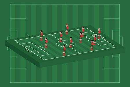 Portugal team formation Illusztráció