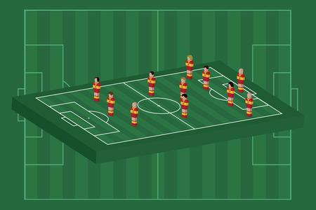 Spain team formation Vector