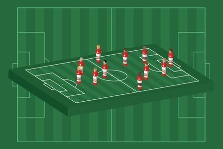 Switzerland team formation Illusztráció