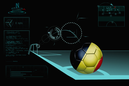Taking a corner infographic with Belgium soccer ball photo