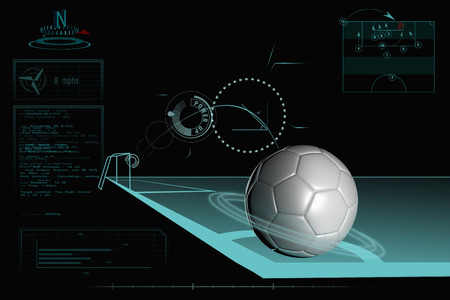 Taking a corner infographic with plain soccer ball photo