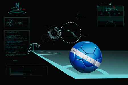 Taking a corner infographic with Honduras soccer ball photo