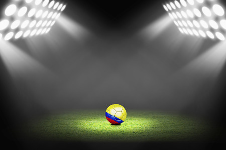 Colombia ball on the soccer field photo