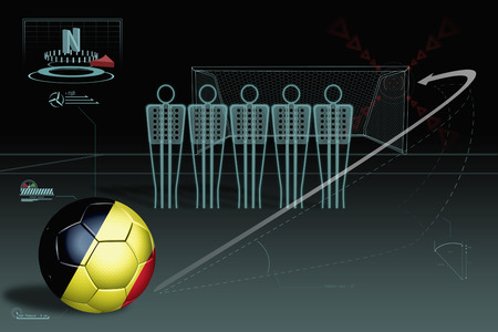 Free kick infographic with Belgium soccer ball photo