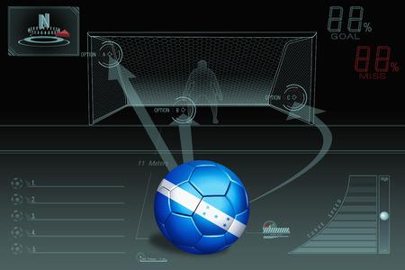 bandera honduras: Pena de infografía patada con balón de fútbol Honduras Foto de archivo
