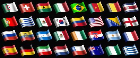bandera de uruguay: Varias banderas que representan al país