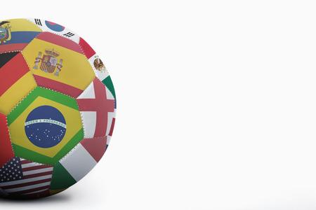 bandera de costa rica: Banderas nacionales en un balón de fútbol