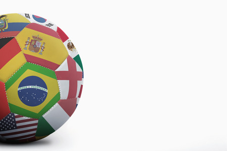 costa rica flag: National flags on a soccer ball Stock Photo