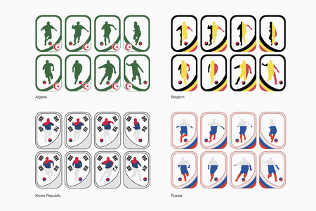Group H teams in a form of cards  イラスト・ベクター素材