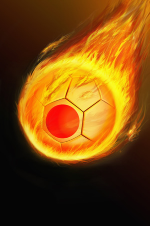 scorch: Flaming Japan soccer ball