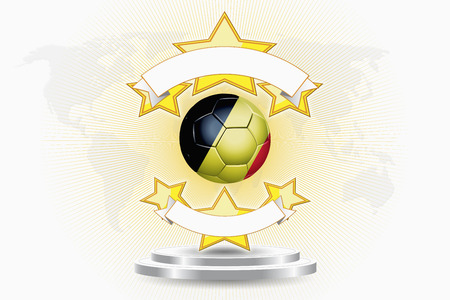 Belgium soccer ball emblem photo