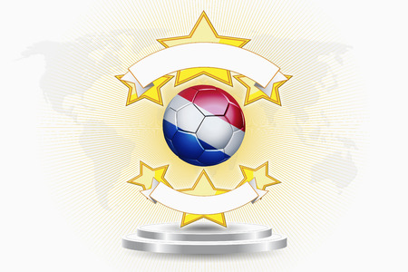 the netherlands: Netherlands soccer ball emblem Stock Photo