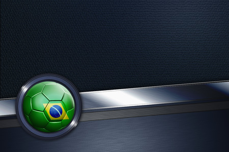 Sports interface with Brazil soccer ball photo