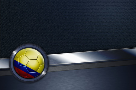 Sports interface with Colombia soccer ball photo