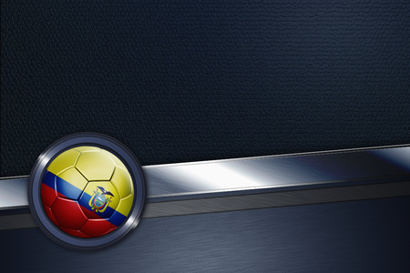 Sports interface with Ecuador soccer ball photo