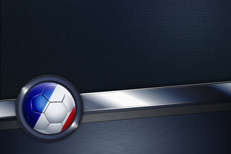 Sports interface with France soccer ball photo