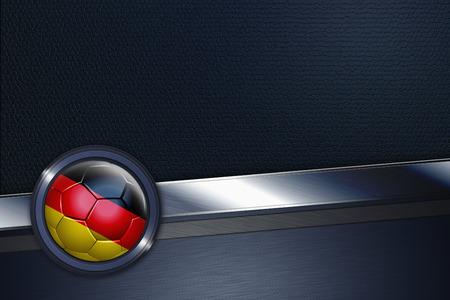 bannière football: Interface de sport avec l'Allemagne ballon de football Banque d'images