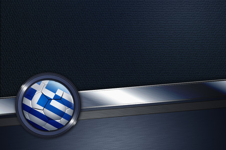 Sports interface with Greece soccer ball photo
