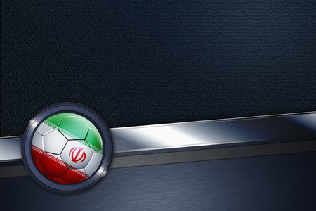 Sports interface with Iran soccer ball photo