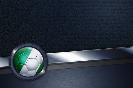 Sports interface with Nigeria soccer ball photo