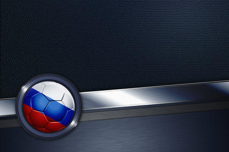 Sports interface with Russia soccer ball photo