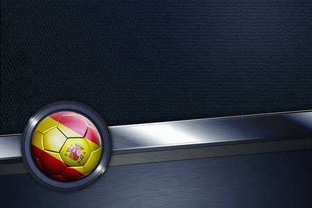 Sports interface with Spain soccer ball photo