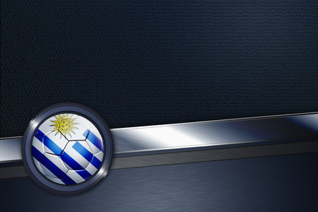 Sports interface with Uruguay soccer ball photo