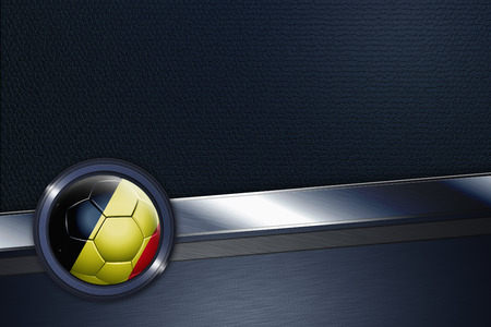 Sports interface with Belgium soccer ball photo
