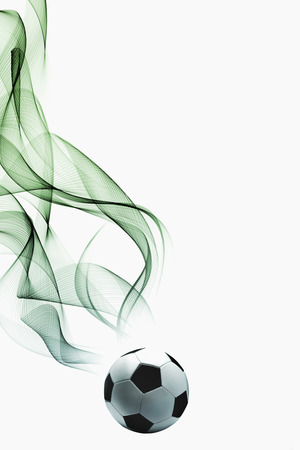 Soccer ball with smoke effect