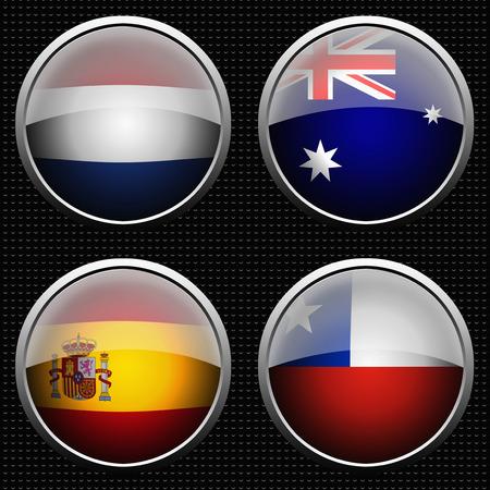 bandera de chile: Equipo de fútbol del Grupo B