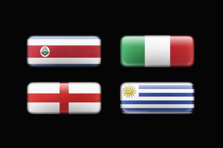 bandera de uruguay: Personas de fútbol por el Grupo D