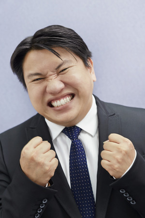 cheer full: Excited businessman