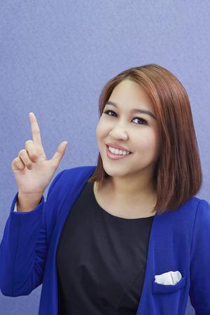 hand gesture: Businesswoman with hand gesture