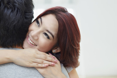 south asian ethnicity: Couple hugging each other Stock Photo