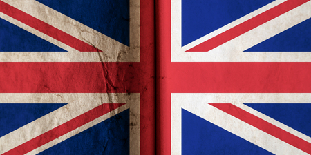 UK flag with old dirty grunge texture