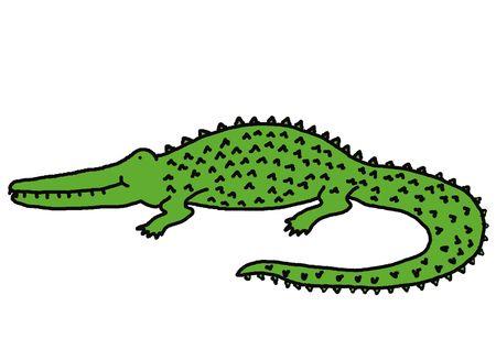 Smiling crocodile, animal series, illustration, painting, drawing illustration