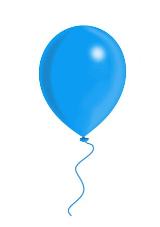 compliments: Blue Balloon, balloon series, object isolated, illustration, painting, drawing Stock Photo