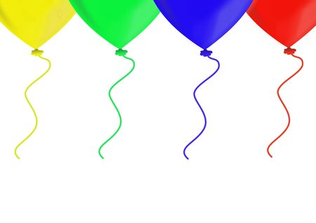 Colorful balloons, objects isolated, balloon series, illustration, painting, drawing illustration