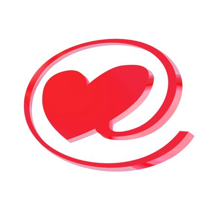 e-love sign, object isolated, illustration, painting, drawing Stock Illustration - 714151